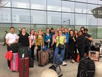 Northwestern Health Sciences University students at the Beijing airport
