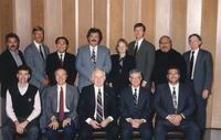 Northwestern Health Sciences University Board of Trustees members and President John Allenburg