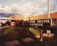 Exterior sign for Northwestern College of Chiropractic