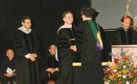 Northwestern Health Sciences University President Dr.John F. Allenburg at a graduation ceremony