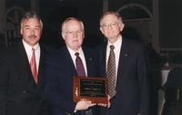 Northwestern Health Sciences University community members Rick Zarmbinski, Howard Lecander, and John F. Allenburg