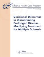 Decisional Dilemmas in Discontinuing Prolonged Disease-Modifying Treatment for Multiple Sclerosis. Comparative Effectiveness Rev