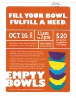 Empty Bowls Flyer
