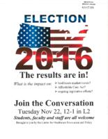 Election 2016: The Results are In! Flyer
