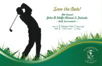 John B. Wolfe Alumni & Friends Golf Tournament Save-the-Date Card