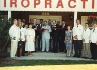 Ribbon cutting ceremony for Northwestern College of Chiropractic's new clinic in Burnsville, Minnesota.
