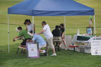 Chair massages at 2010 alumni golf tournament