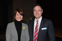 Dr. Renee Devries and Northwestern Health Sciences University President Christopher Cassirer