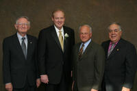 Four Northwestern Health Sciences University Presidents together