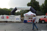 Entrance to alumni bass fishing tournament