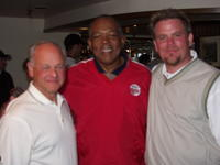 (L to R) Northwestern Health Sciences University  President Alfred Traina with Tony Oliva and Brad Forseth