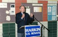 Iowa Senator Tom Harkin speaking at Northwestern Health Sciences University