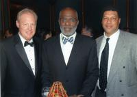 Northwestern Health Sciences University President Mark Zeigler with Justice Alan Page