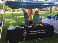Northwestern Health Sciences University community member at the Minnesota Pride Festival