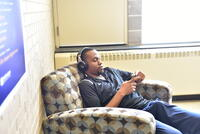 Northwestern Health Sciences University student relaxing