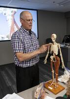 Northwestern Health Sciences University faculty member teaching an anatomy class