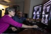 Northwestern Health Sciences University community members viewing x-rays