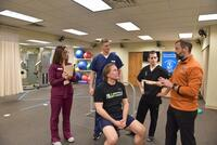 Northwestern Health Sciences University interns in the Human Performance Center