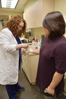 Northwestern College of Chiropractic students practice taping skills