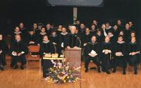 Northwestern College of Chiropractic community members during a graduation ceremony
