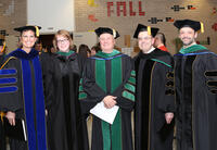 Faculty and staff at graduation