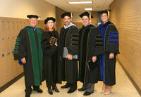 Faculty and administration members