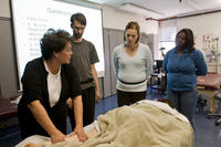 Northwestern Health Sciences University massage therapy demonstration
