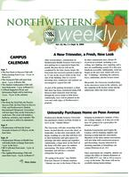 Northwestern weekly, Vol. 13, no. 1, Sept. 6, 2006