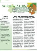 Northwestern weekly, Vol. 13, no. 4, Sept. 27, 2006