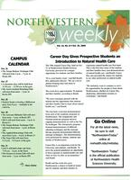 Northwestern weekly, Vol. 13, no.8, Oct. 25, 2006
