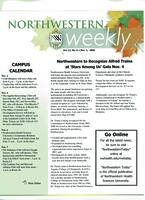 Northwestern weekly, Vol. 13, no. 9, Nov. 1, 2006
