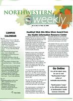Northwestern weekly, Vol. 13, no. 11, Nov. 15, 2006