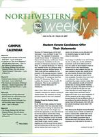 Northwestern weekly, Vol. 13, no. 23, March 14, 2007