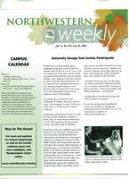 Northwestern weekly, Vol. *11, no. 43,  June 26, 2008