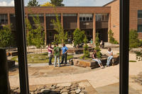 Northwestern Health Sciences University students in the Healing garden
