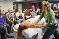 Massage therapy demonstration