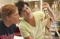 Students in anatomy lab