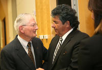 Northwestern Health Sciences University President John F. Allenburg and  David Valentini