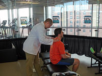 Northwestern Health Sciences University's College of Chiropractic student at Fit Fest