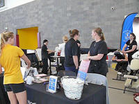 Massage Therapy students at Fit Fest