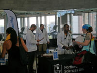 Northwestern Health Sciences University's College of Chiropractic students at Fit Fest