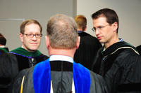 College of Chiropractic faculty at graduation