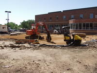 Construction of the Healing garden at Northwestern Health Sciences University