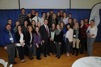 College of Chiropractic students with President Cassirer