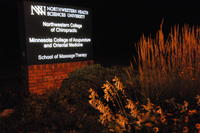 Northwestern Health Sciences University sign