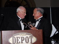 (L to R) Victor Marty and Northwestern Health Sciences University President Alfred Traina at the Depot in Minneapolis