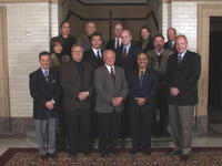 Presidents Alfred Traina and Mark Zeigler with Board of Trustees