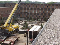 Construction of Northwestern Health Sciences University's Healing garden