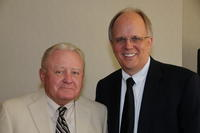 Northwestern Health Sciences University President Jeff Nelson and Jack Holtz