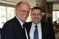 Northwestern Health Sciences University President Jeff Nelson and Mike Wiles
